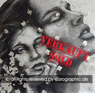 Original, art, carographic, paintings, malerei, cottbus, germany, portrait painting, think about, carographic